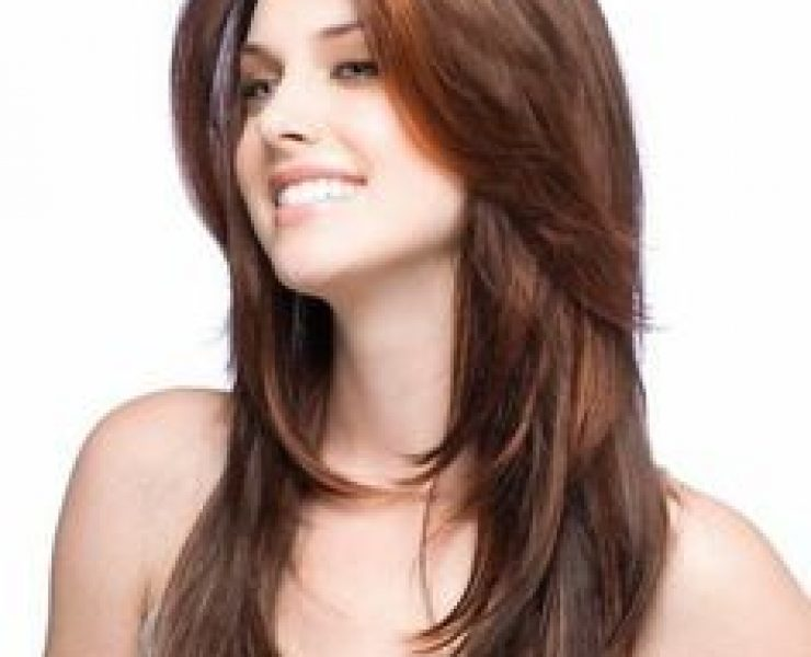 Coupe Cheveux Long Degrade Effile Avec Frange U2013 Coloration Des Cheveux Moderne