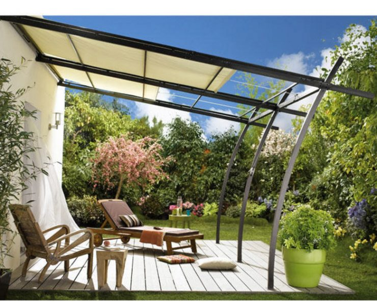 Brico pergola retractable roof pergola creates an outdoor - Pergola madera brico depot ...