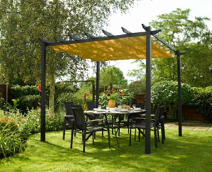pergola bois en kit. Black Bedroom Furniture Sets. Home Design Ideas