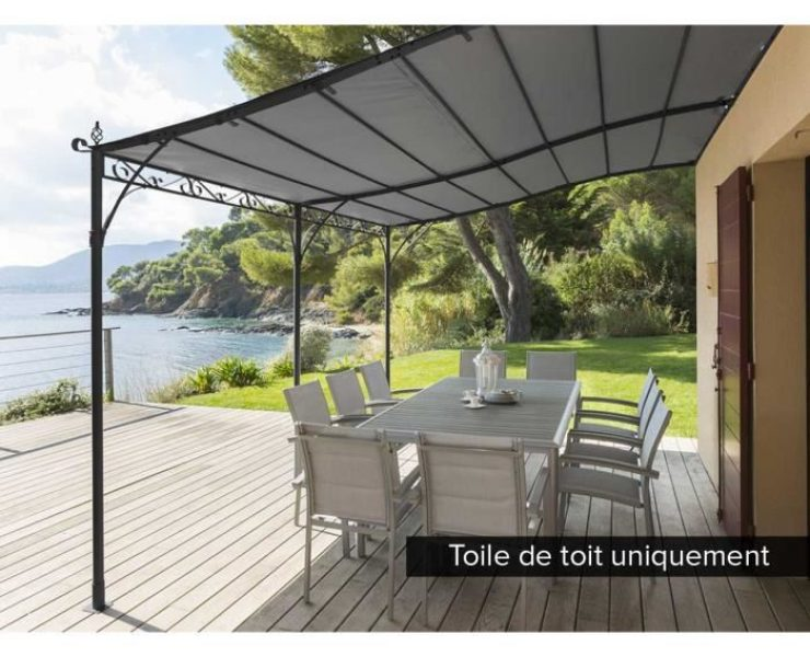 wonderful rideaux de terrasse exterieur 3 toile bache pergola voile ombrage store banne hotel. Black Bedroom Furniture Sets. Home Design Ideas